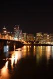 горизонт ночи 5 городов Стоковые Фотографии RF