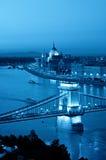горизонт ночи budapest Стоковые Изображения RF