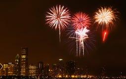 горизонт ночи chicago стоковая фотография