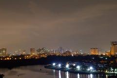 горизонт ночи jpg eps города saigon Стоковые Изображения RF