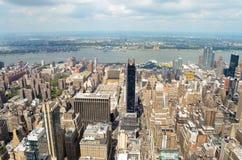 Горизонт Нью-Йорка в течение дня Стоковые Изображения RF