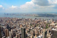 Горизонт Нью-Йорка в течение дня Стоковое Изображение RF