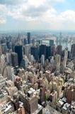 Горизонт Нью-Йорка в течение дня Стоковая Фотография RF