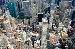 Горизонт Нью-Йорка в течение дня Стоковые Фотографии RF