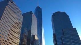 Горизонт Нью-Йорка Манхаттана, u S A - небоскребы в Нью-Йорке стоковые изображения rf