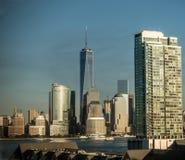 Горизонт Нью-Йорка на зоре Стоковая Фотография RF