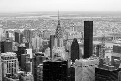 Горизонт Нью-Йорка, небоскребы, США стоковые фотографии rf
