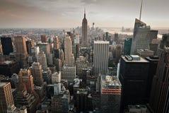 Горизонт Нью-Йорка от вершины утеса Стоковые Изображения RF