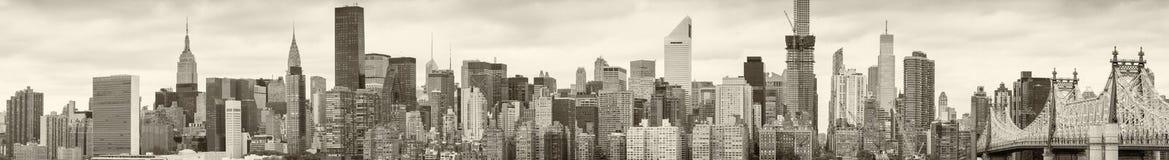 Горизонт Нью-Йорка черно-белый Стоковое Фото