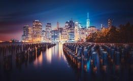 Горизонт Нью-Йорка Стоковая Фотография