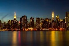 Горизонт Нью-Йорка Стоковые Фотографии RF