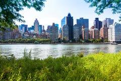 Горизонт Нью-Йорка Стоковое Изображение RF