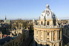 Горизонт Оксфордского университета здания библиотеки Bodleian Стоковое фото RF