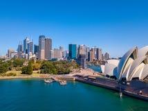 Горизонт оперного театра и города Сиднея Стоковые Изображения RF