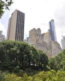 Горизонт от Central Park в центре города Манхаттане от Нью-Йорка в Соединенных Штатах Стоковые Изображения