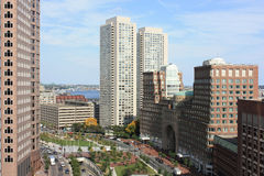горизонт офиса зданий boston Стоковые Изображения