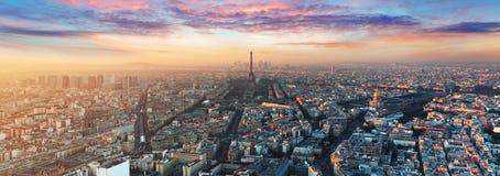 Горизонт Парижа - панорама Стоковая Фотография