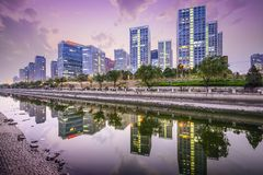 Горизонт Пекина CBD Стоковая Фотография