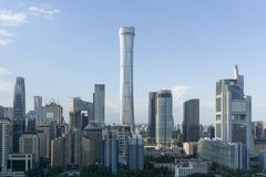 Горизонт Пекин CBD стоковое фото