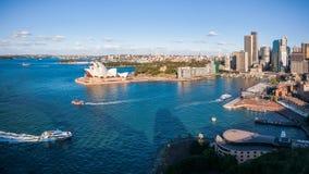 Горизонт портового района и города Сиднея Стоковые Фото