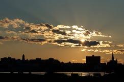 Горизонт Портленд Мейн Стоковая Фотография RF