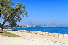 Горизонт прогулки Чикаго Стоковое Изображение
