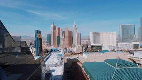 Горизонт прокладки Лас-Вегас - вида с воздуха - США 2017 сток-видео