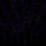 горизонт пурпура города Стоковые Фотографии RF