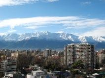 Горизонт района Сантьяго de Чили - Providencia Стоковые Изображения RF
