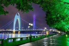 Горизонт реки Гуанчжоу Китая стоковое изображение rf