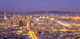 Горизонт Сан-Франциско, Калифорния стоковые изображения rf