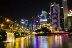 Горизонт Сингапура и взгляд залива Марины Стоковое Фото