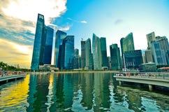 Горизонт Сингапура Стоковые Изображения