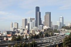 Горизонт Сиэтл, Вашингтон, США Стоковая Фотография RF