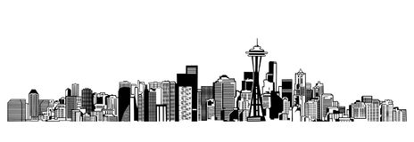 Горизонт Сиэтл иллюстрация штока