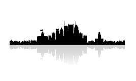 Горизонт силуэта Монреаля Стоковая Фотография RF