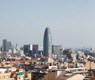 Горизонт слав и Барселоны Torre стоковое фото rf