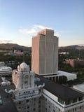 Горизонт Солт-Лейк-Сити с офисным зданием церков LDS Стоковые Изображения