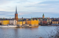 Горизонт Стокгольма (январь) Стоковое фото RF