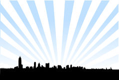 горизонт столичного жителя города иллюстрация вектора