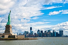 горизонт США york manhattan города новый Стоковое Фото