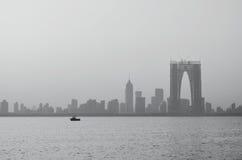 Горизонт с небоскребами. Сучжоу городское Стоковые Фото