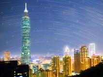 Горизонт Тайбэя, Тайвань Стоковое Изображение RF