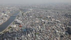 Горизонт токио и река Sumida сток-видео