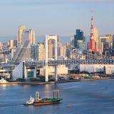 Горизонт Токио стоковые изображения rf