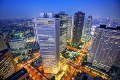 Горизонт токио Shinjuku Стоковые Фотографии RF