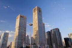 горизонт утра cbd Пекин Стоковая Фотография RF