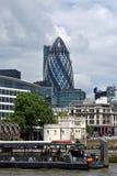 Горизонт финансового района города Лондона Стоковые Фотографии RF