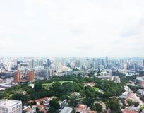Горизонт финансового района Сингапура Стоковые Фотографии RF