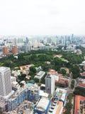 Горизонт финансового района Сингапура Стоковые Изображения
